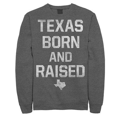 "Juniors' Fifth Sun ""Texas Born And Raised"" Fleece Top"