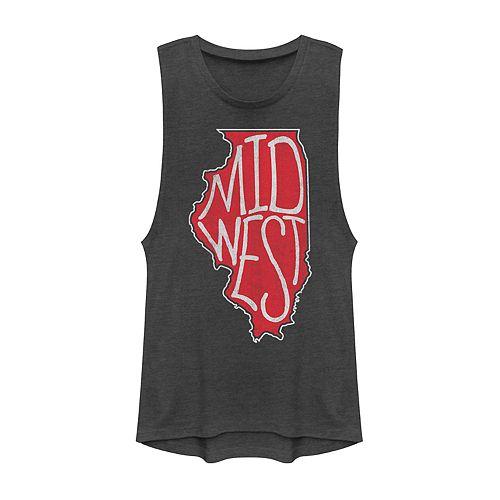 """Juniors' Fifth Sun """"Midwest"""" Illinois Muscle Tank"""