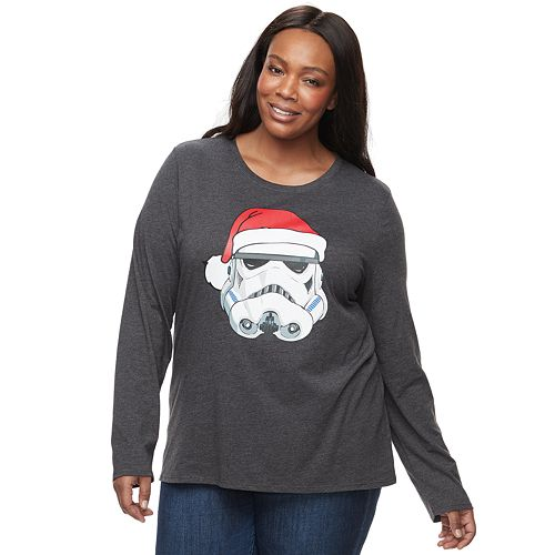 Plus Size Family Fun™ Star Wars Stormtrooper Christmas Graphic Tee