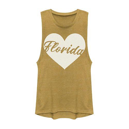 Juniors' Fifth Sun Florida Heart Muscle Tank