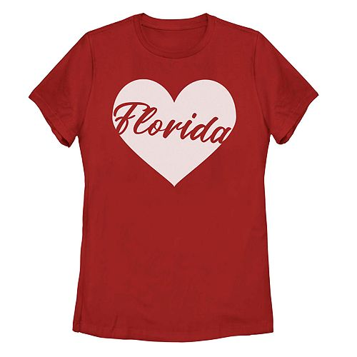 Juniors' Fifth Sun Florida Heart Graphic Tee