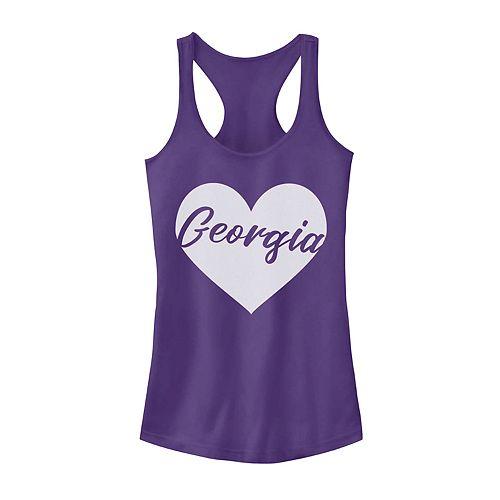 Juniors' Georgia Heart Tank Top