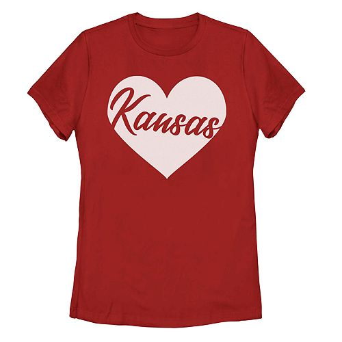 Juniors' Kansas Heart Tee Shirt