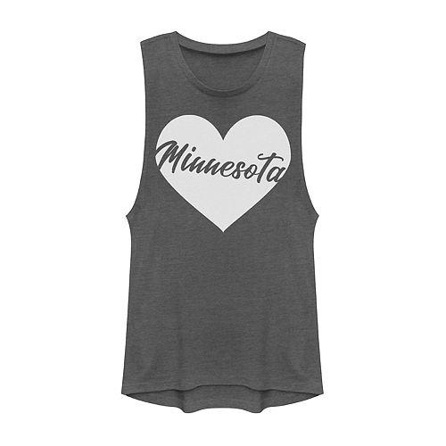 Juniors' Minnesota Heart Muscle Tank