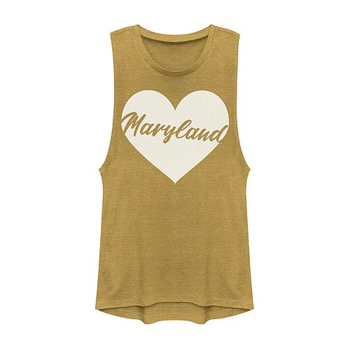Juniors' Maryland Heart Muscle Tank