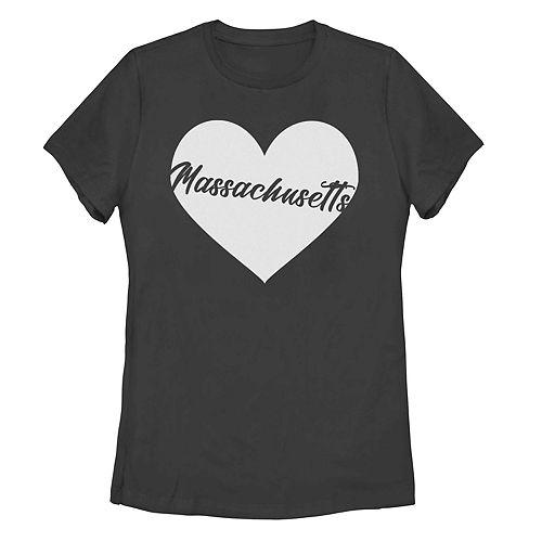 Juniors' Fifth Sun Massachusetts Heart Tee Shirt