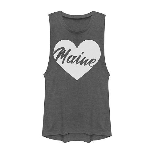 Juniors' Fifth Sun Maine Heart Muscle Tank