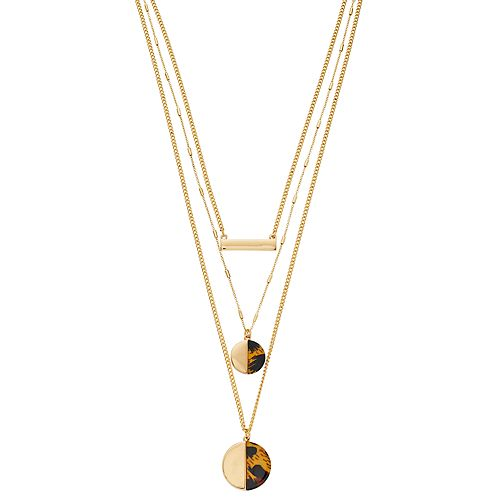 Nine West Cheetah Multi Strand Necklace