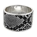 Nine West Snakeskin Print Hinged Bangle Bracelet