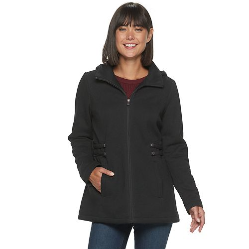 Women's d.e.t.a.i.l.s Fleece Side Tab Hooded Jacket