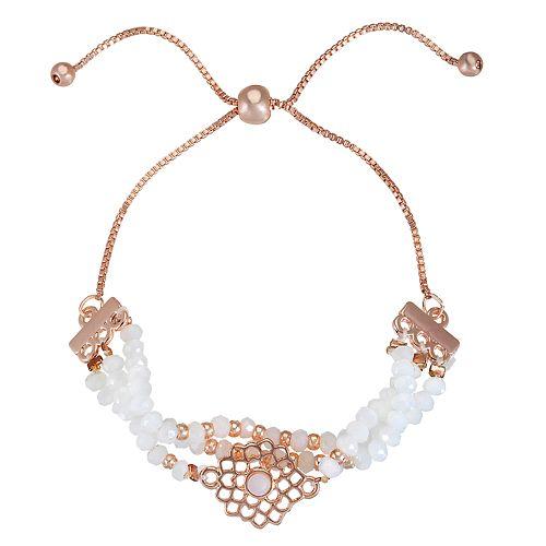 LC Lauren Conrad White Bead Adjustable Bracelet