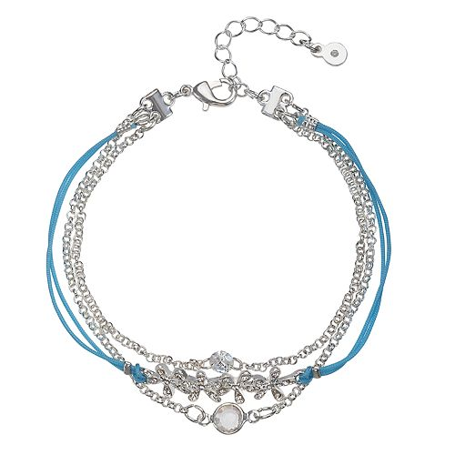 LC Lauren Conrad Flower Multi Strand Bracelet