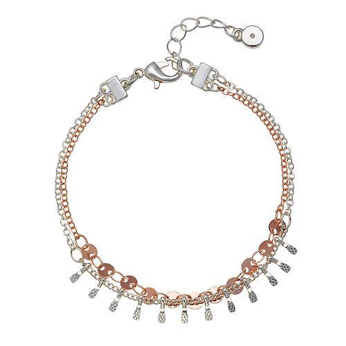 LC Lauren Conrad Two Tone Disc Bracelet