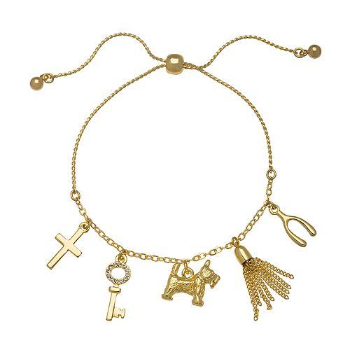 LC Lauren Conrad Gold Tone Charm Bracelet