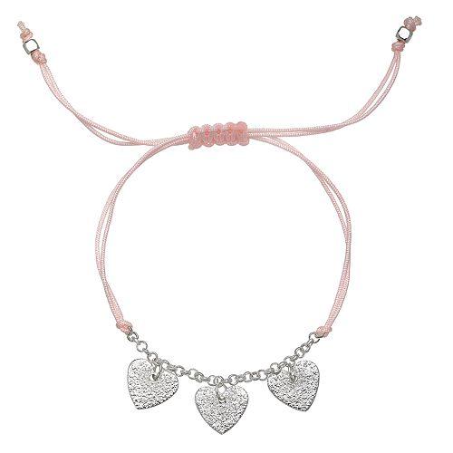LC Lauren Conrad Heart Charm Adjustable Bracelet
