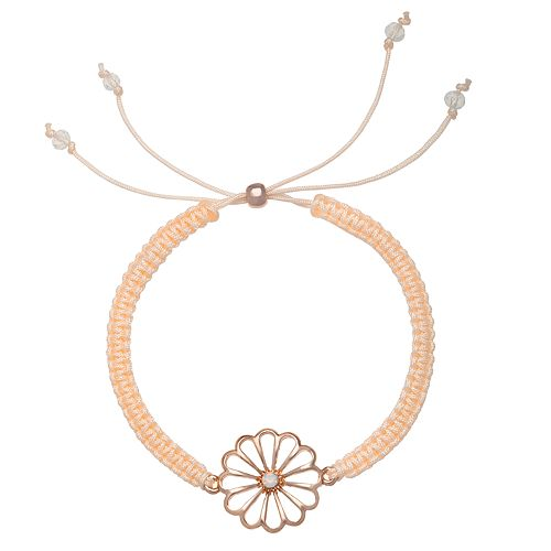 LC Lauren Conrad Flower Braided Bracelet