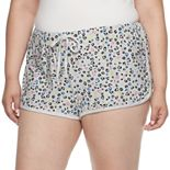 Juniors' Plus Size SO® Sleep Shorts