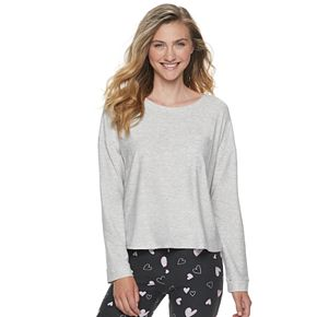 Juniors' SO® Long Sleep Boxy Sleep Top