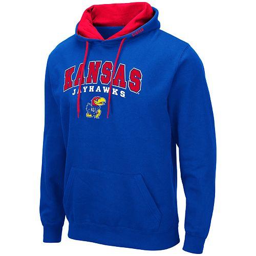 Men's NCAA Kansas Jayhawks Pullover Hooded Fleece