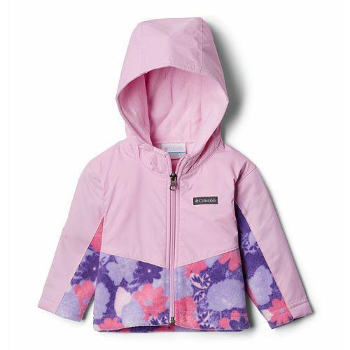Baby Girl Columbia Overlay Fleece Jacket