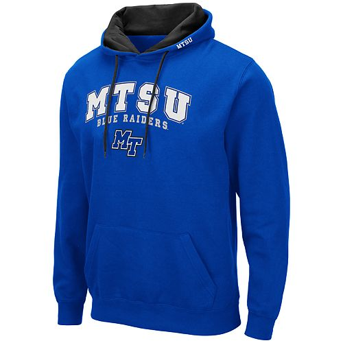 Men's NCAA Middle Tennessee State University Blue Raiders Pullover Hooded Fleece