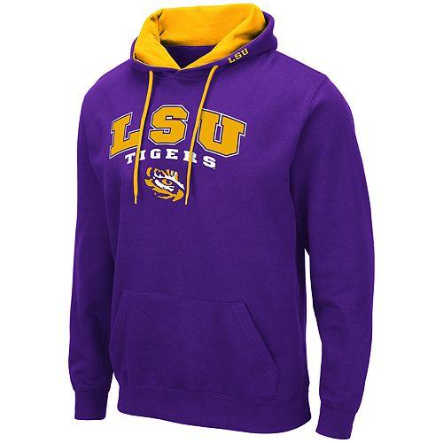Men's NCAA LSU Tigers Pullover Hooded Fleece