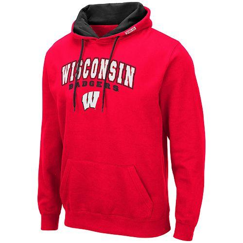Men's NCAA Wisconsin Badgers Pullover Hooded Fleece