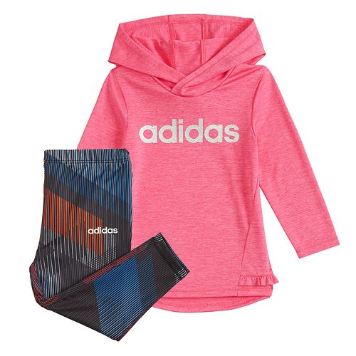 Baby Girl adidas Hoodie & Leggings Set