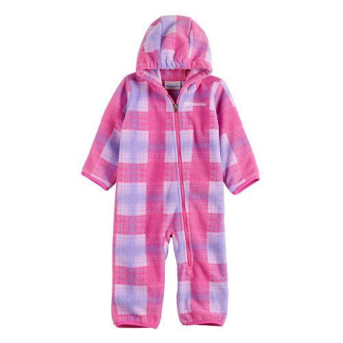 Infant Girl's Columbia Snowtop II Fleece Bunting Zip-Up Onesie