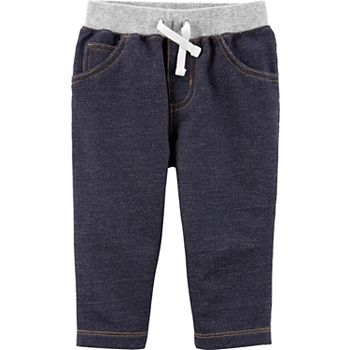 Baby Boy Carter's Pull-On Knit Denim Pants