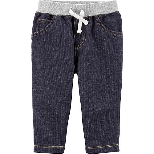 Baby Boy Carter's Pull-On Knit Denim Pants