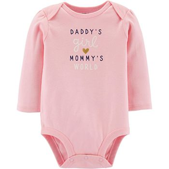 Baby Girl Carter's Daddy's Girl Mommy's World Collectible Bodysuit