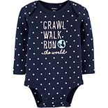 Baby Girl Carter's Crawl Walk Run The World Collectible Bodysuit