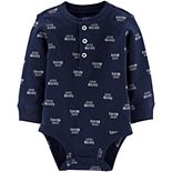 Baby Boy Carter's Little Brother Henley Bodysuit