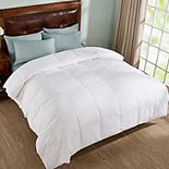 Dream On All Season White Down Comforter with Cotton Shell