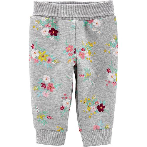 Baby Girl Carter's Floral Pull-On Fleece Pants