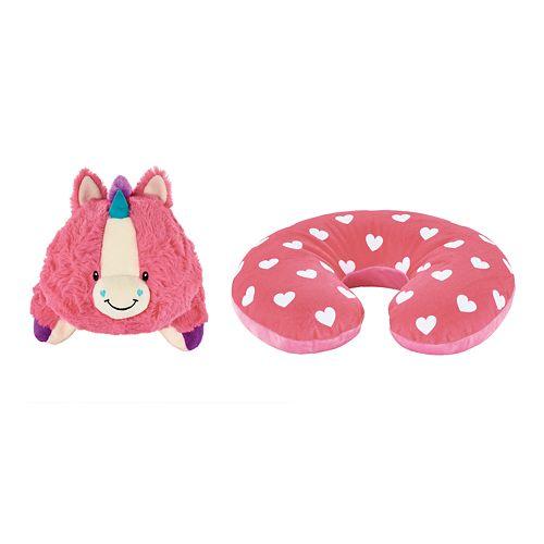 Animal Adventure Popovers Unicorn 2-in-1 Reversible Plush Buddy & Travel Pillow