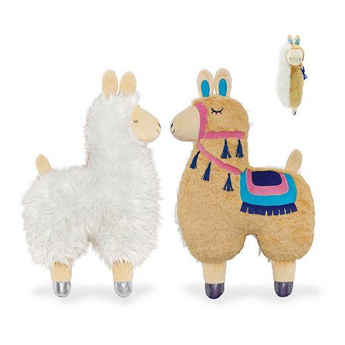 Animal Adventure Soft Landing Backflips Llama & Alpaca 2-in-1 Reversible Character Plush
