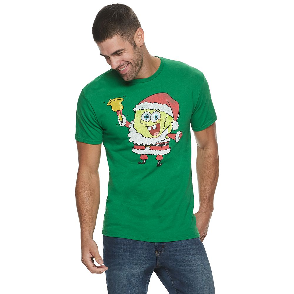 Men's SpongeBob SquarePants Santa Tee