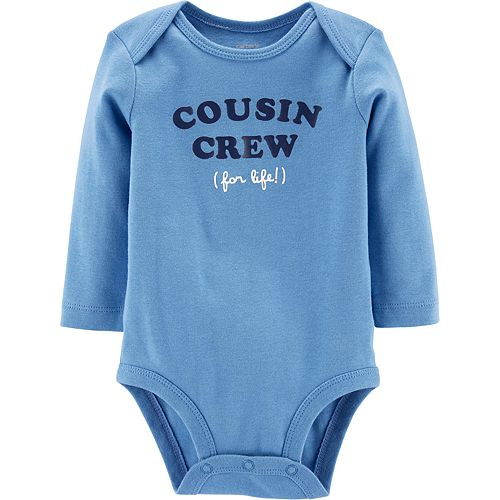 Baby Boy Carter's Cousin Crew For Life Collectible Bodysuit