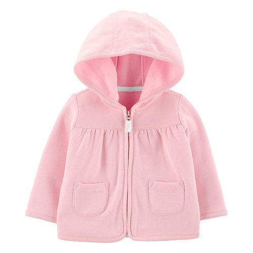 Baby Girl Carter's Zip-Up Fleece-Lined Cardigan