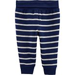 Baby Boy Carter's Striped Pull-On Fleece-Lined Pants