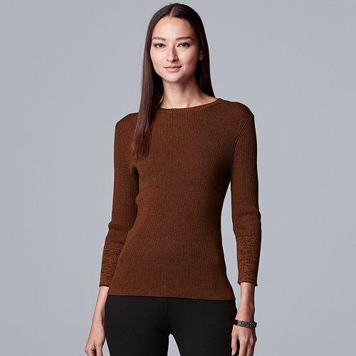 Women's Simply Vera Vera Wang Ribbed Turtleneck Sweater