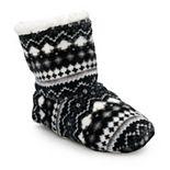 Women's Cuddl Duds Sherpa Bootie Slipper Socks
