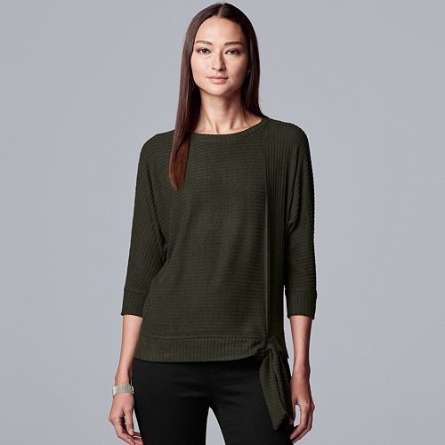 Women's Simply Vera Vera Wang Dolman Sleeve Cozy Top Ribbed