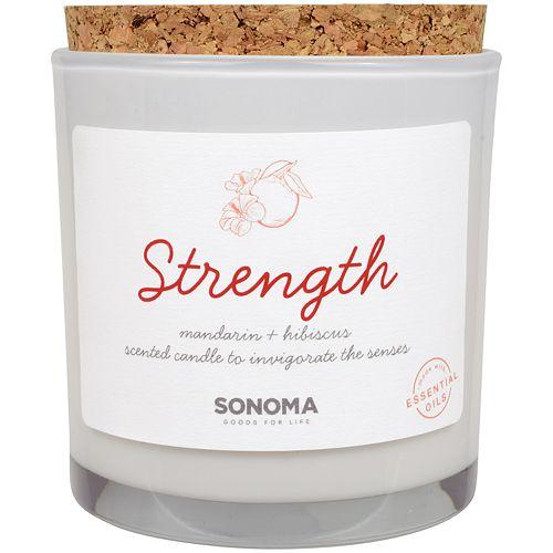 SONOMA Goods for Life™ SPA Strength Mandarin & Hibiscus 13-oz. Candle Jar