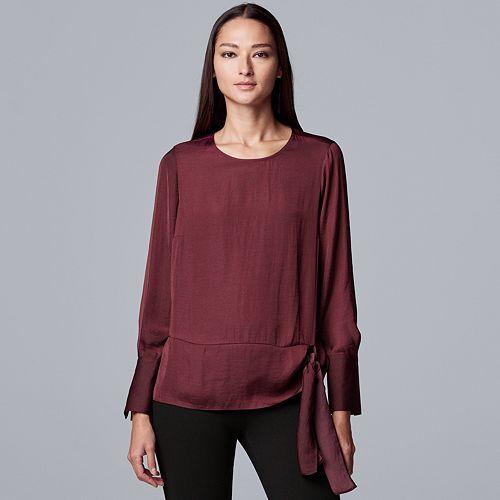 Women's Simply Vera Vera Wang Knot Front Blouse