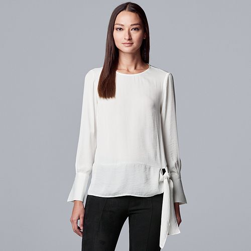 Women's Simply Vera Vera Wang Knot Front Blouse