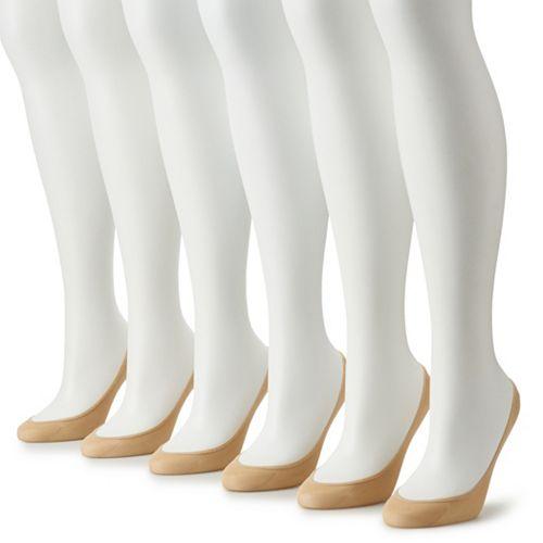 Women's Apt. 9® 6-Pack Low-Cut Non-Slip Socks