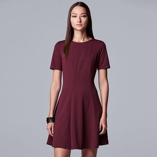 Women's Simply Vera Vera Wang Seamed Ponte Dress